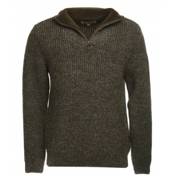 Barbour New Tyne Half Zip derby tweed