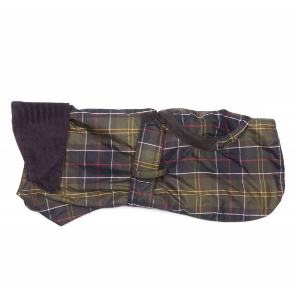 BARBOUR TARTAN WATERPROOF PACK AWAY DOG COAT L