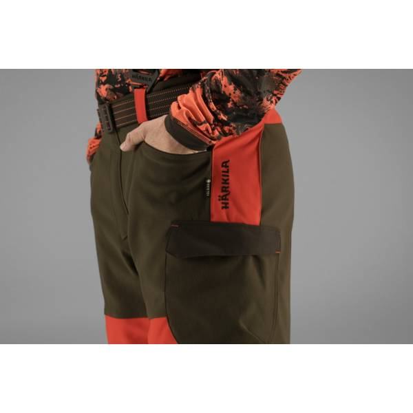 Keiler-Schutzhose Wildboar Pro, Farbe Orange blaze/ Willow Green