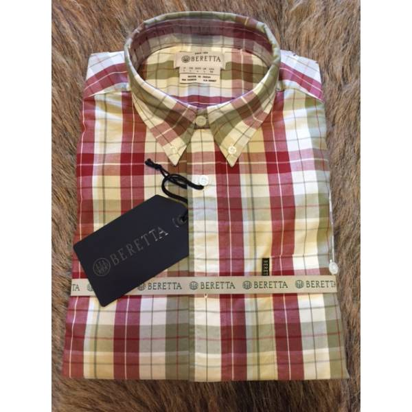 Beretta Tom Shirt Beige/Bordeaux Check
