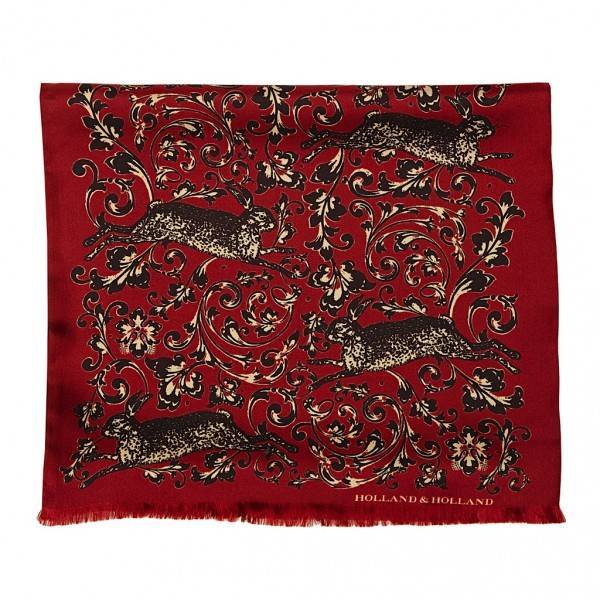 Engraved Hare Silk Scarf