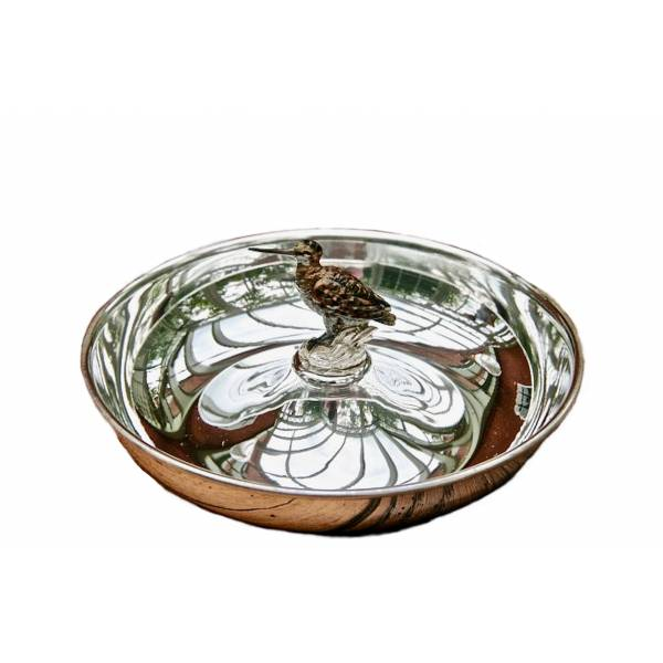 Silver Plated Round Tray Woodcook