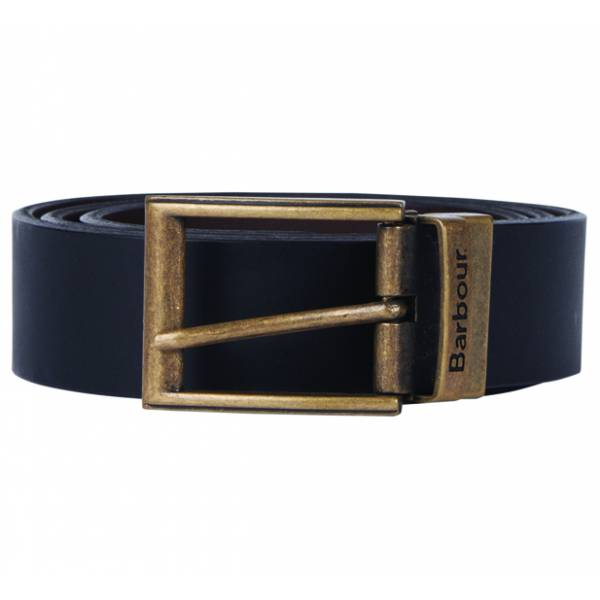 Barbour Reversible Leather Belt Black Leder Gürtel