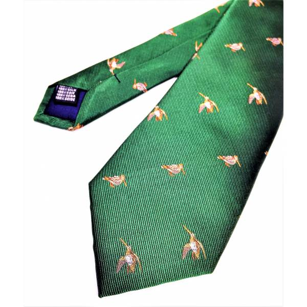 Krawatte The Woodcock, Farbe British Racing Green