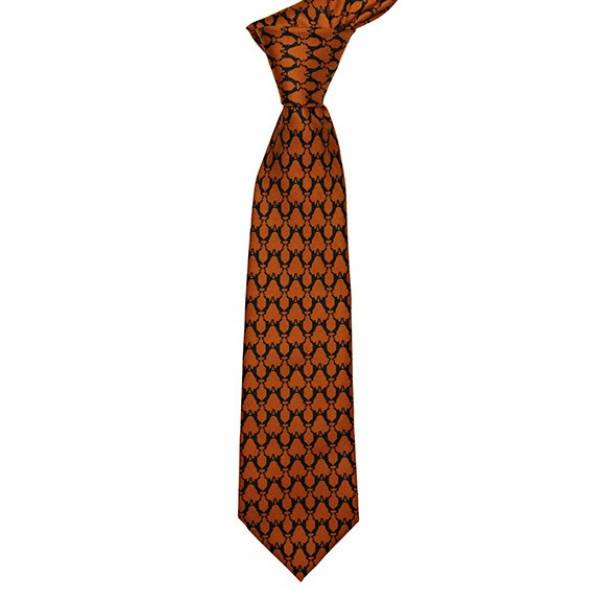 Printed Boxing Hare Printed Tie Orange