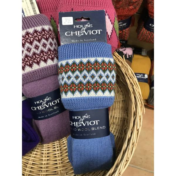 House of Cheviot Lady Fairisle Bluebell