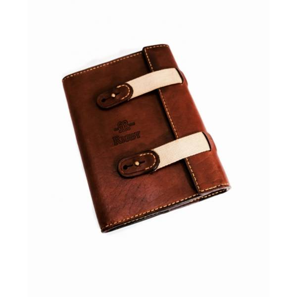 Leather and Canvas Notebook Cover