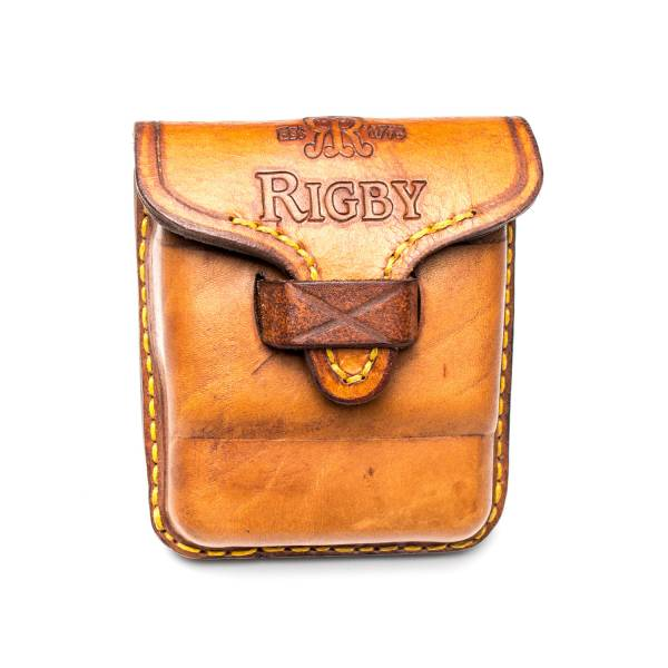 Rigby Standard leather ammo pouch .375 H&H and similar