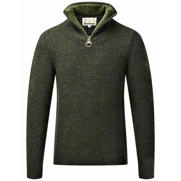 Barbour Herren-Sweater New Tyne, Farbe: Olive