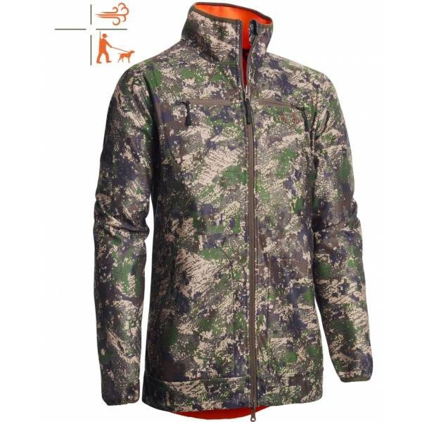 Wende-Jacke Pixel Camo Windblocker Reversible High Vis